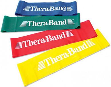 Cvičební guma TheraBand Loop 7,6cm x 30,5cm - zelená - silná