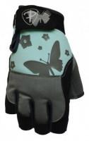 Dámské fitness rukavice Polednik Butterfly tyrkysové - M