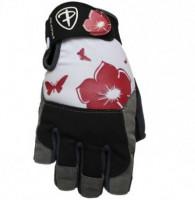 Dámské fitness rukavice Polednik Flower červené - M