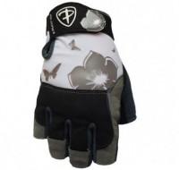 Dámské fitness rukavice Polednik Flower šedé - M