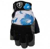 Dámské fitness rukavice Polednik Flower modré - M