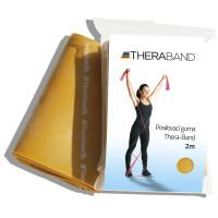 Posilovací guma TheraBand 2m zlatá