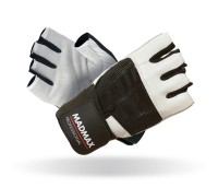 Fitness rukavice Madmax Professional White - L