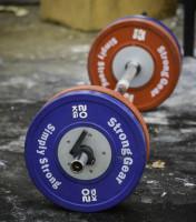 SG Tlustá olympijská osa Fat Axle Bar