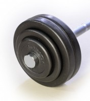 Hsport Pevná litinová činka 21kg