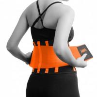 Bederní pás MadMax s výztuhami oranžový