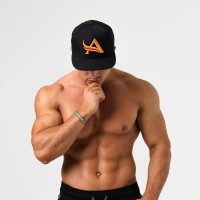 Aesthetix Era pánská kšiltovka Snapback Black Orange Černá