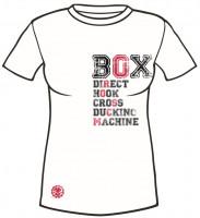 Dámské sportovní tričko MACHINE BOX - Bílé