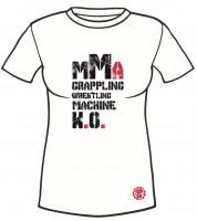 Dámské sportovní tričko MACHINE MMA - Bílé