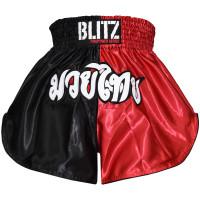 Muay Thai šortky Blitz- červeno/černé