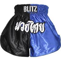 Muay Thai šortky Blitz- modro/černé