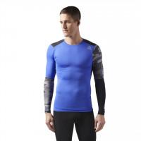 REEBOK Pánské kompresní tričko ACTVCHL GRAPHIC - modré