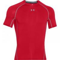 UNDER ARMOUR Kompresní triko s Kr. rukávem - červené