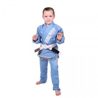 Tatami Dětské Kimono MEERKATSU ANIMAL GI - SKY modré