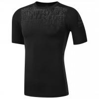 Pánské kompresní tričko Reebok AC Graphic Comp - černé