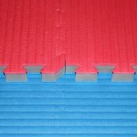 Tatami judo puzzle třívrstvé 4 cm - modro/červené