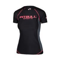 PitBull West Coast Dámský Rashguard COMPRESSION PRO PLUS - černo/růžová