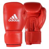 Boxerské rukavice Adidas AIBA II červené - kůže