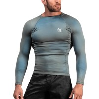 Rashguard HAYABUSA Fusion dl. rukáv - šedo/modrý