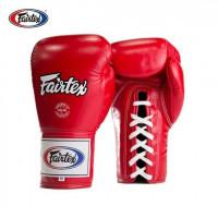 Šněrovací boxerské rukavice Fairtex BGL6 červené