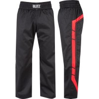 Plátěné kalhoty BLITZ Elite Full Contact - černo/červené