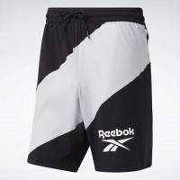 Pánské šortky REEBOK Workout Ready Graphic Shorts - černobílé
