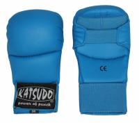 Rukavice karate Katsudo KLASIK - modré bez palce