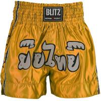 Muay Thai Fight šortky Blitz - Žluté