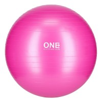 Gymnastický míč ONE Fitness Gym Ball 10 růžový, 55 cm