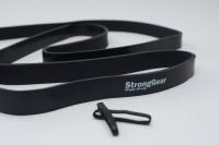 Power Bands - posilovací elastické gumové expandéry Černá - 208cm x 0,45cm x 2,2 cm - 7-30KG
