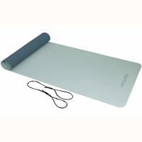 Jóga podložka TPE protiskluz 4 mm TUNTURI s popruhem sedo-modrá